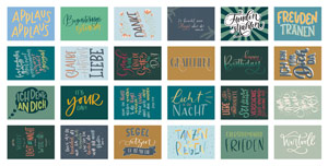24 Karten Handlettering Übersicht