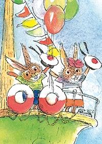 10er Set Postkarten, Winnie an Board