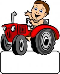 Baby-Boy Traktor - Geburtstafel