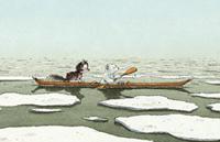 10er Set Postkarten, Kleiner Eisbär und Husky