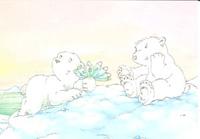 10er Set Postkarten, Kleiner Eisbär, Herzliche Gratulation