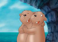 10er Set Postkarten, Kleiner Eisbär; Beste Freunde