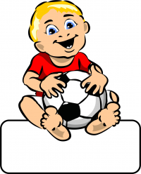 Baby-Boy Ball - Geburtstafel