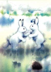 10er Set Postkarten, Hoppel und Nico