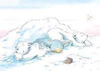 10er Set Postkarten, Kleiner Eisbär, Schöne Ferien!
