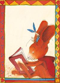 10er Set Postkarten, Pauli, Bücherhase