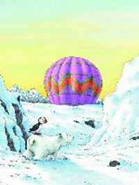 Poster, Kleiner Eisbär, hilf mir fliegen