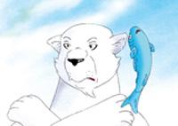 10er Set Postkarten, Kleiner Eisbär; Eisbär mit Fisch