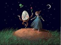 10er Set Postkarten, Laura und Humpty
