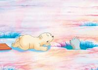 10er Set Postkarten, Kleiner Eisbär, lass mich nicht allein