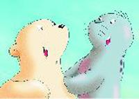 10er Set Postkarten, Kleiner Eisbär, Lach mal wieder!