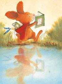 10er Set Postkarten, Pauli liest Buch