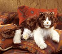 Folkmanis Tier-Handpuppe Wuschelige Katze