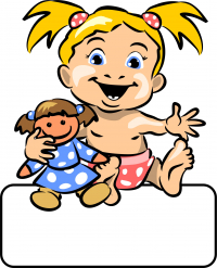 Baby-Girl Puppe - Geburtstafel