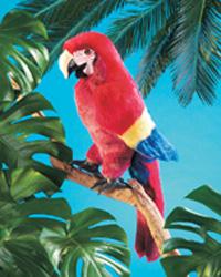 Folkmanis Tier-Handpuppe Papagei