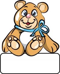 Bär blau - Geburtstafel