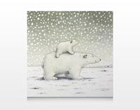 Poster, Kleiner Eisbär wohin fährst du? (Querformat)