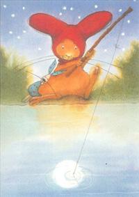 10er Set Postkarten, Pauli fischt