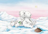 10er Set Postkarten, Kleiner Eisbär; Verlass dich auf mich