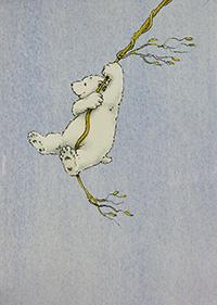 Poster, Kleiner Eisbär wohin fährst du? (Hochformat)