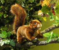 Folkmanis Tier-Handpuppe Rotes Eichhörnchen