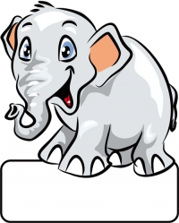 Elefant grau - Geburtstafel