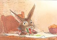 10er Set Postkarten, Winnie malt