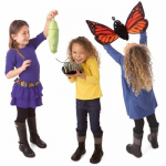 Folkmanis Tier-Handpuppe Metamorphose Schmetterling