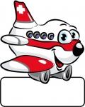 Flugzeug rot - Geburtstafel