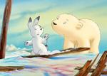 10er Set Postkarten, Kleiner Eisbär; Kommst du mit?