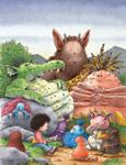 10er Set Postkarten, Selbst Monster lieben gute Bücher