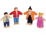 Familie zu Puppenhaus
