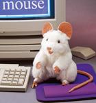 Folkmanis Tier-Handpuppe weisse Maus