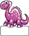 Dino pink - Geburtstafel