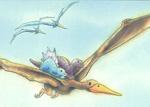 10er Set Postkarten, Kleiner Dino und Flugsaurier