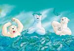 10er Set Postkarten, Kleiner Eisbär; Nimm es leicht