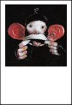 10er Set Postkarten, Affenzoff