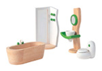 Puppenhaus-Einrichtung, Badezimmer