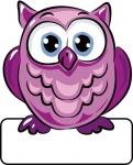 Eule violett - Geburtstafel