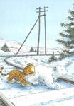 10er Set Postkarten, Kleiner Eisbär unterwegs