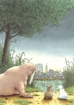 10er Set Postkarten, Kleiner Eisbär; Manhattan