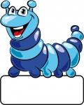 Raupe blau - Geburtstafel