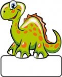 Dino grün - Geburtstafel