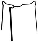 Dreibein Cooky, H: 35 cm, D: max. 34 cm