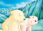 10er Set Postkarten, Kleiner Eisbär; Ich find dich toll